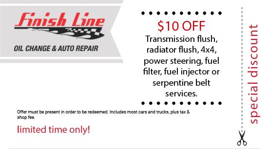 Promotions – Finish Line Oil Change & Auto Repair